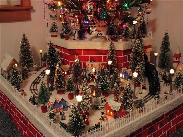 Trains Around Christmas Tree