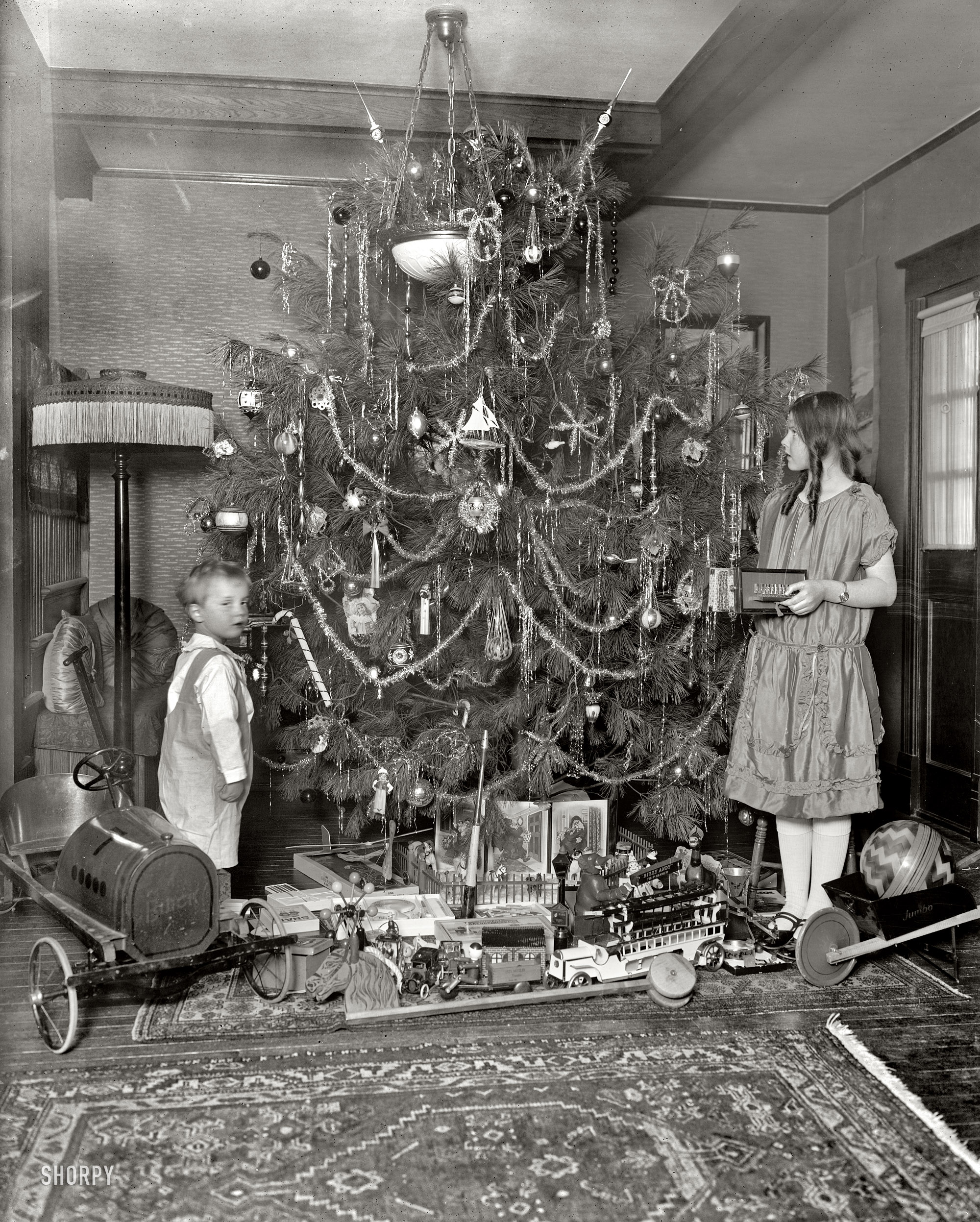 Vintage christmas photos from the 1920s for Autrefois decoration