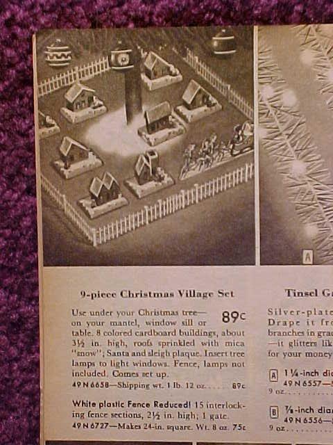 Christmas Village Putzes and train layouts after World War II.