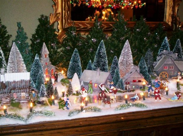 christmas snow village