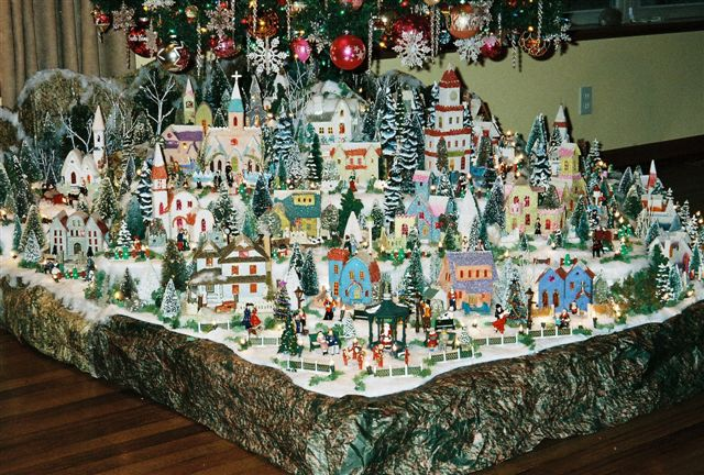 Christmas village putzes and train layouts submitted for