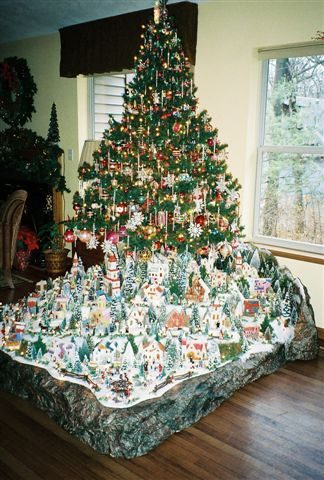 christmas village houses putz display christmas village houses putz display - Christmas Tree Village