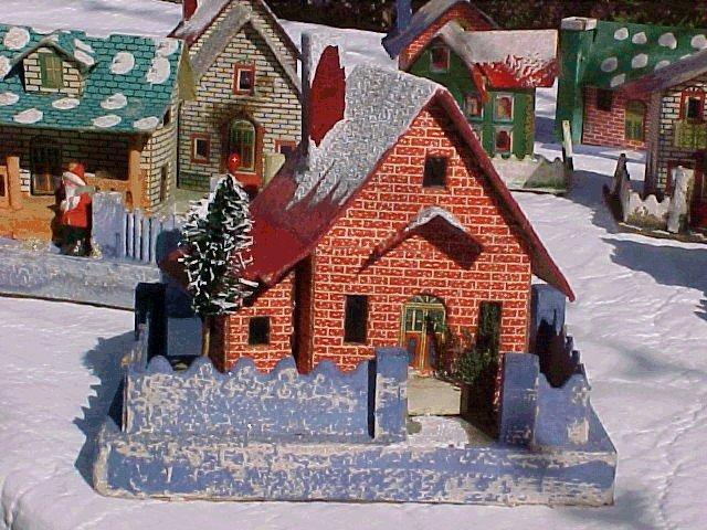 large 1928 japanese christmas village house - Mini Christmas Village Houses